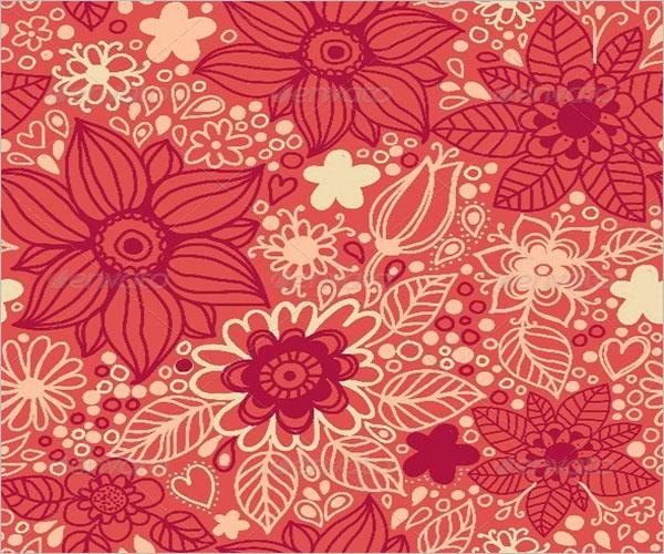 Floral Print Wallpaper Texture