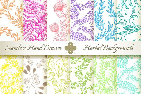 Floral Textured Damask Design