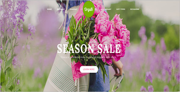 Flower Store OpenCart Theme