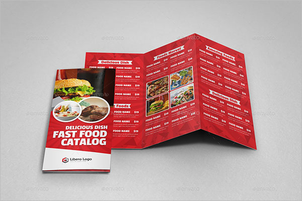 Food Brochure Design PSD