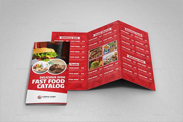 Food Brochure Design PSD