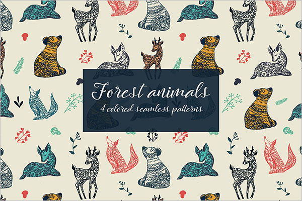 Forest Animals Seamless Textures