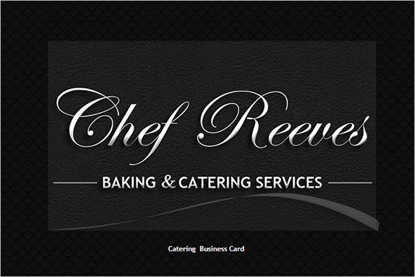Free Catering Services business card