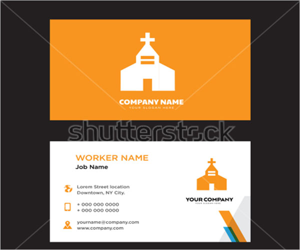 Free Church Business Card Design