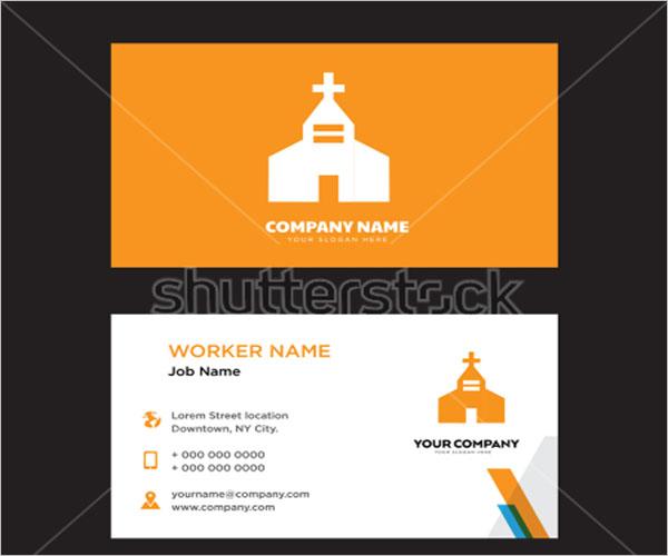Free Church Business Card Design