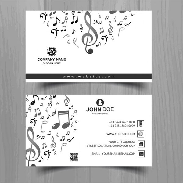 29 music business card templates free word psd designs free music business card template cheaphphosting Image collections