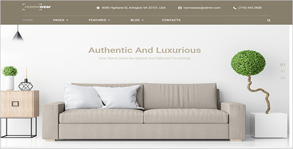 Furniture Website WordPress Theme