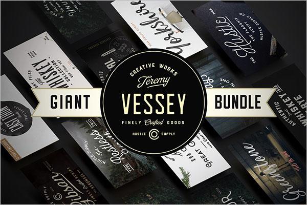 Giant Font Bundle Design