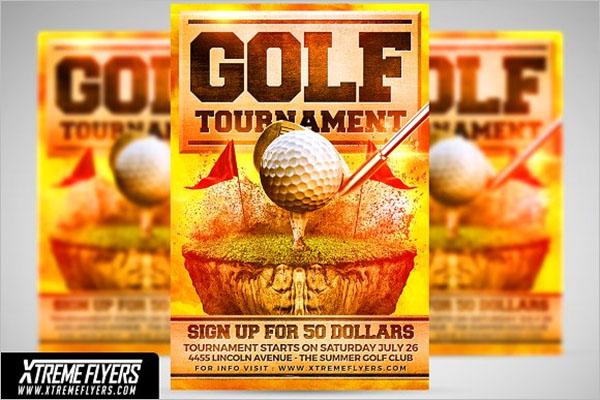 Golf Flyer Design Template