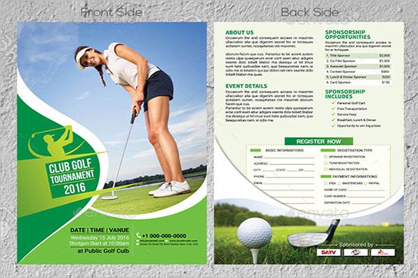 Golf Flyer Front & Back Design