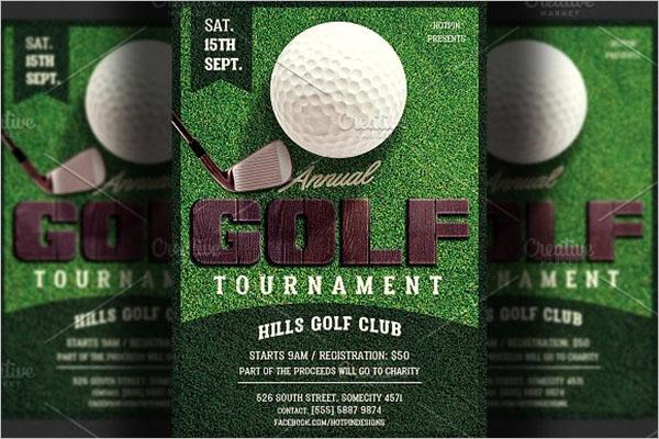 Golf Flyer PSD Template