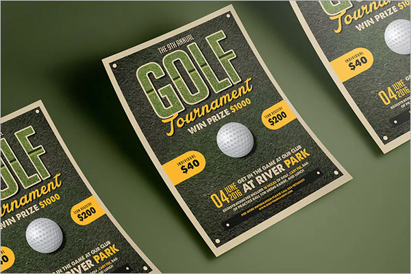Golf Flyer sample Template