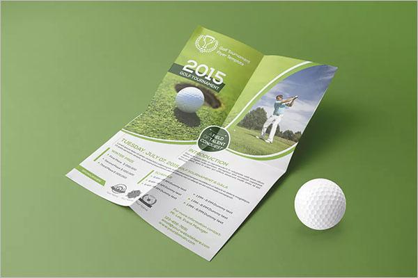Golf Tournament Design Template