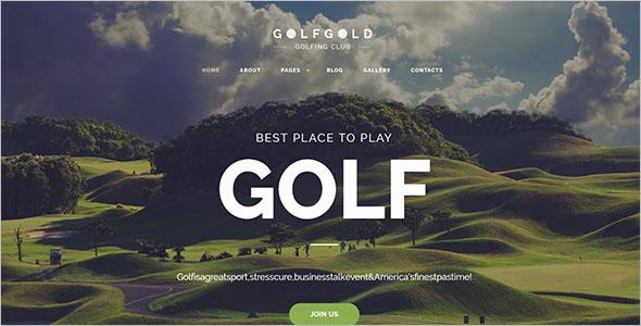 Golfing Club Joomla Template