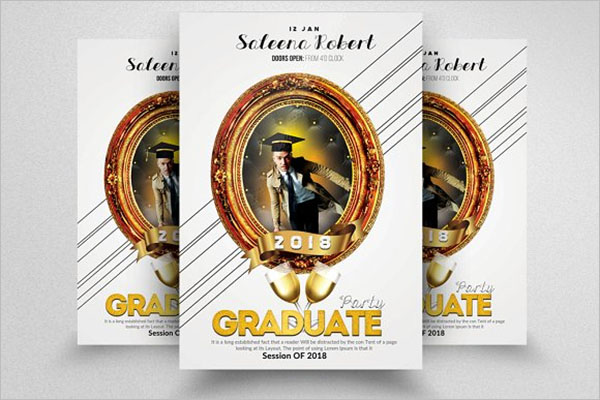 Graduation Announcement Flyer Template