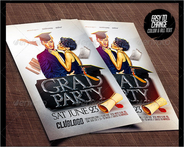 Graduation Background Flyer Template