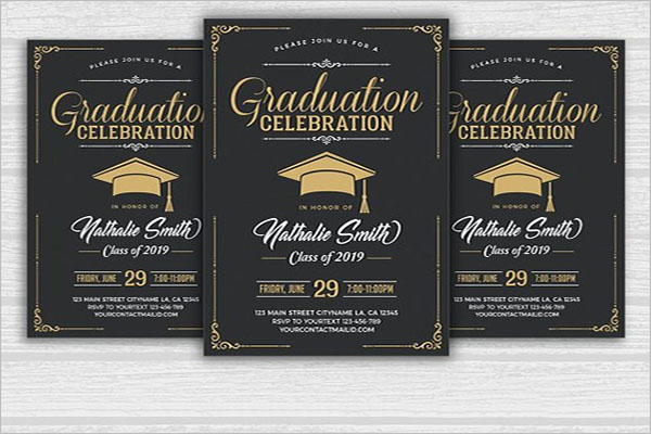 Graduation Celebration Flyer Template