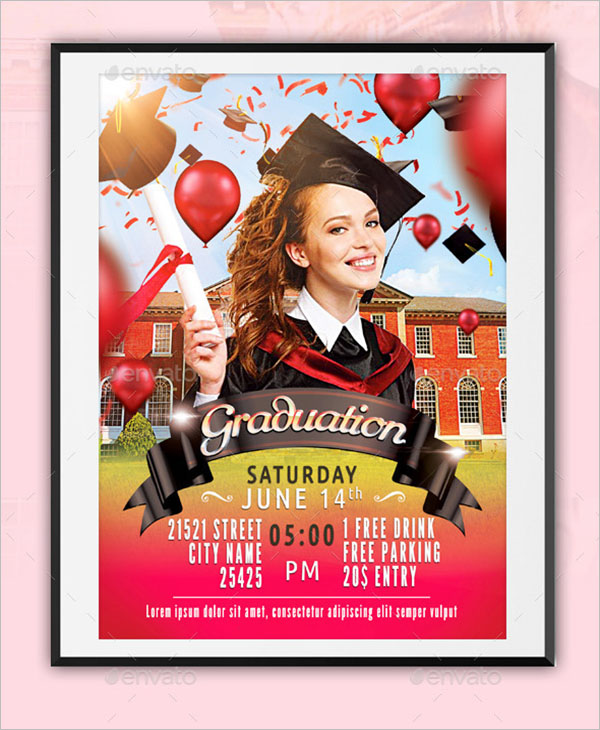 Graduation Flyer Template Word