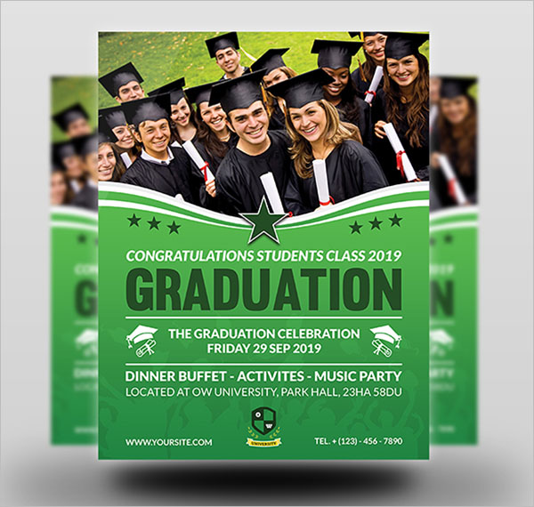 Graduation Flyer Word Template