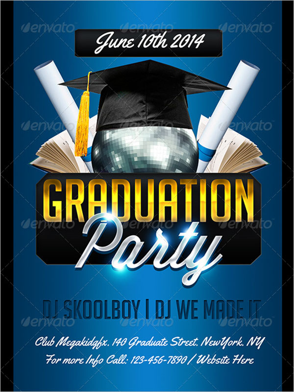 Graduation Party Celebration Flyer