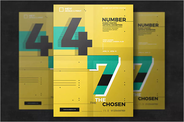 Graphic Number Poster Design