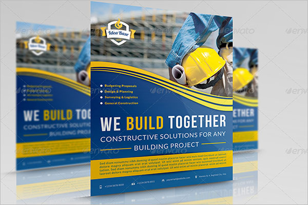 Graphical Construction Company Flyer