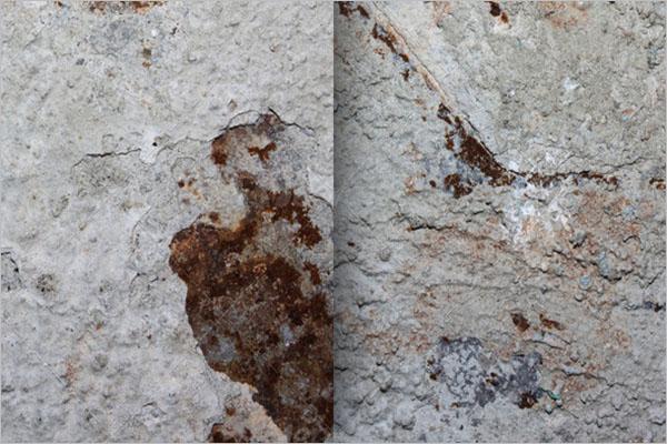 Grey Color Rust Metal Texture