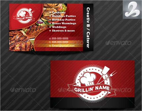 Griller's Catering Business Card Template