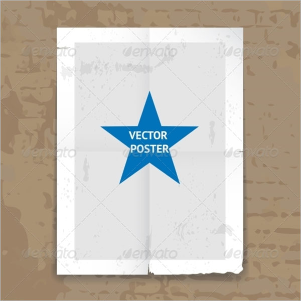 Grunge Hanging Folded Poster Template