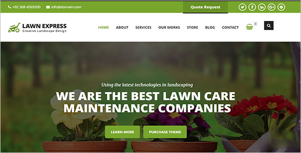 HTML5 Landscaping Responsive Template