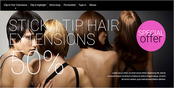 Hair Extensions Magento Theme