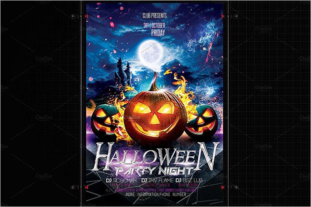 Halloween 3D Flyer Template