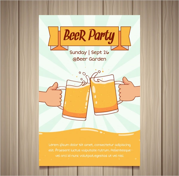 Hand Draw Party Poster Design
