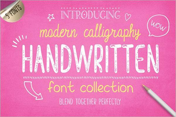 Handwritten Font Template