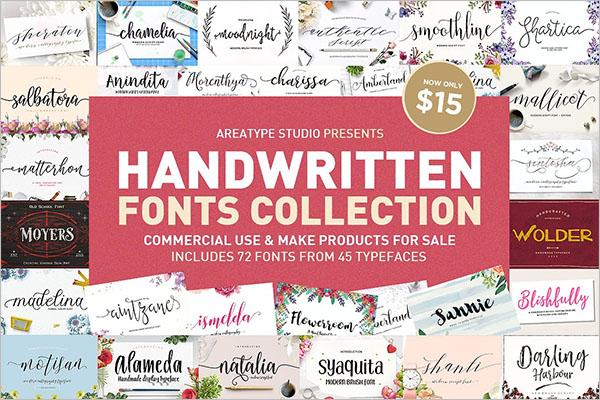 Handwritten Fonts Collection