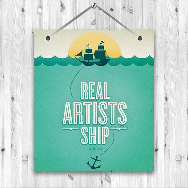 Hanging Poster Free Download