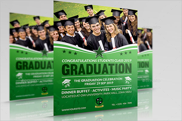 High School Graduation Flyer Template