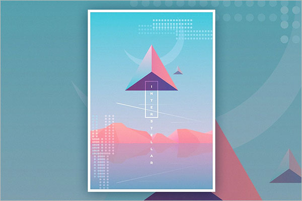 Holographic Design Poster