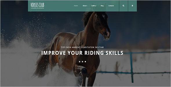 Horses Club Joomla Template