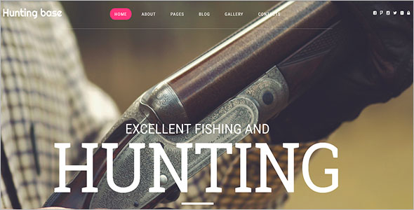 Hunting Joomla Club Template