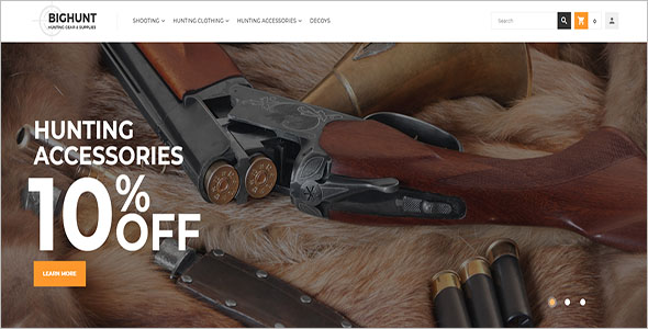 Hunting Supplies Magento Theme