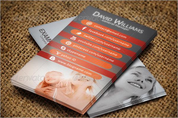 Insurance QR Code Business Card Template