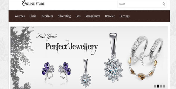 Jewelry Online Store Opencart Theme