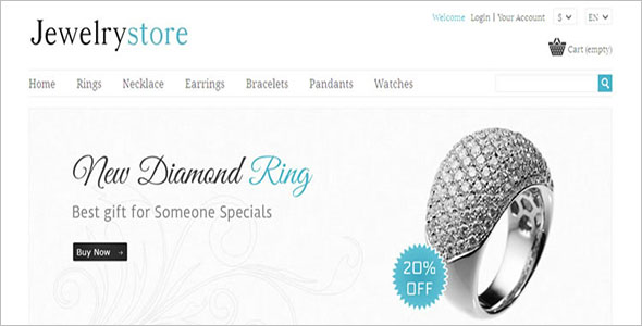 Jewelry PrestaShop Opencart Theme