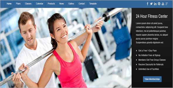 Joomla Fitness Equipment Template