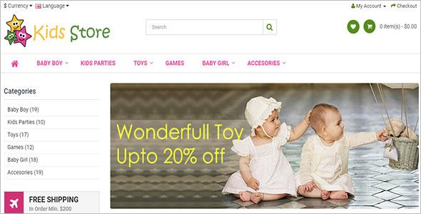 Kids Store Opencart Theme