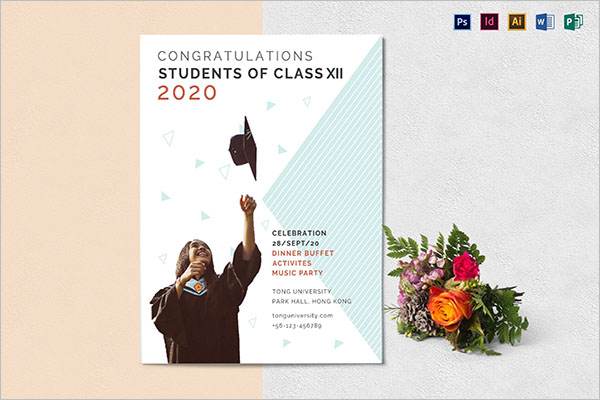 Latest Graduation Flyer Template