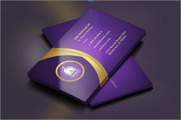 Lavender Gold Church Business Card