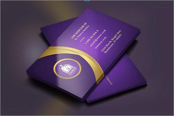Lavender Gold Church Business Card