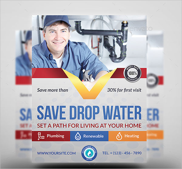 Leakage Plumber Flyer Template